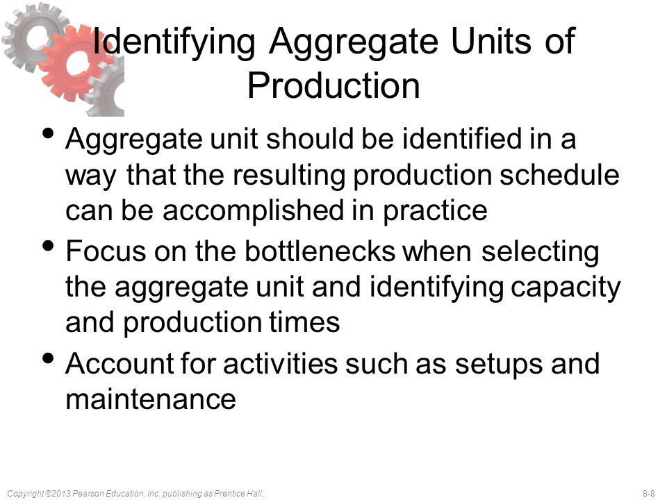 Identifying Aggregate Units of Production