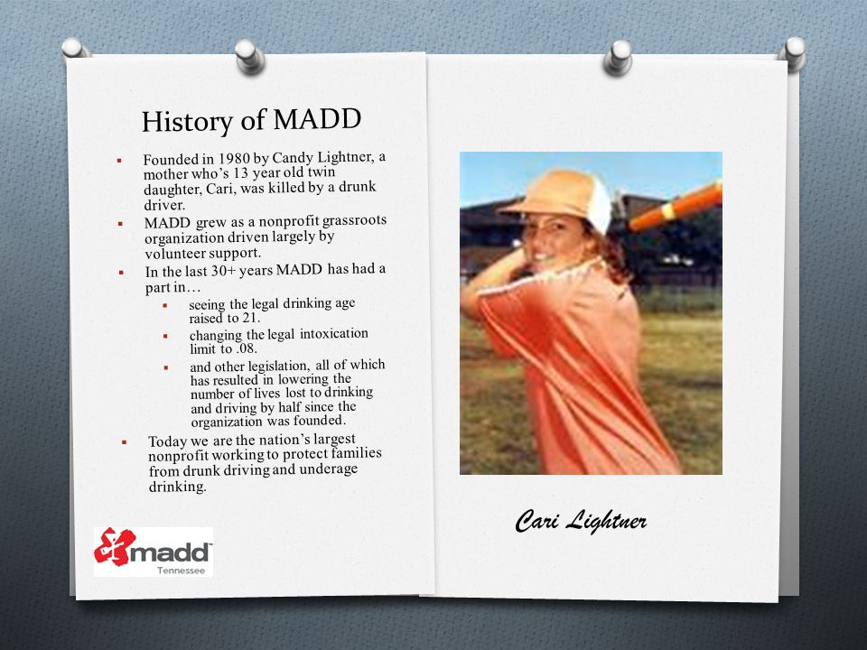 History of MADD Cari Lightner