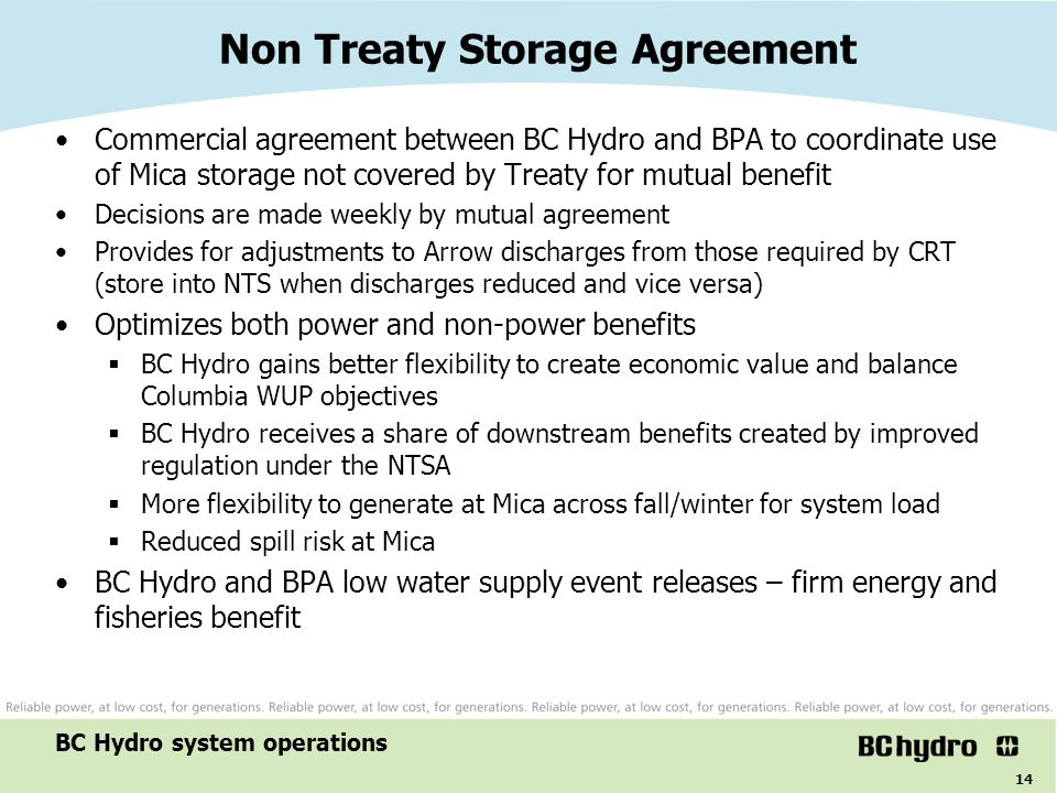 Non Treaty Storage Agreement