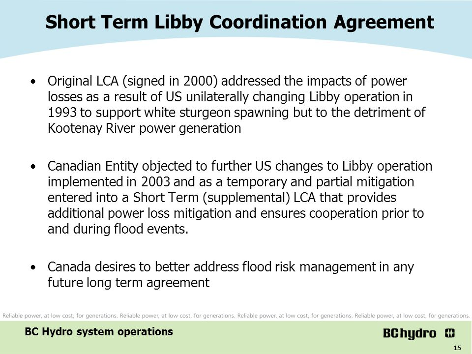 Short Term Libby Coordination Agreement