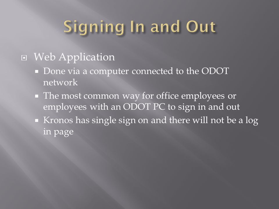 Signing In and Out Web Application