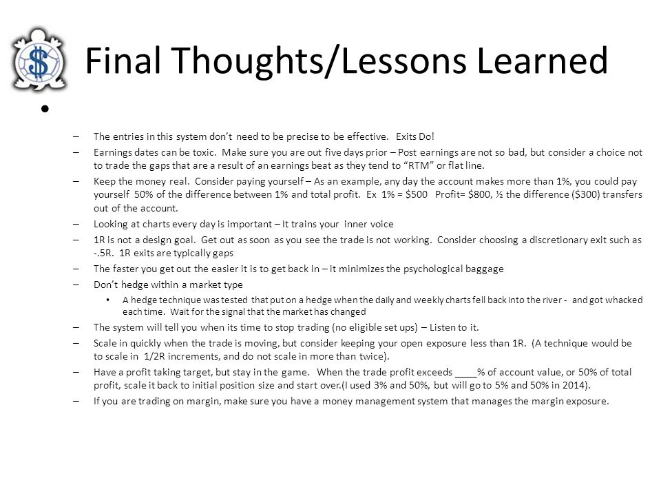 Final Thoughts/Lessons Learned