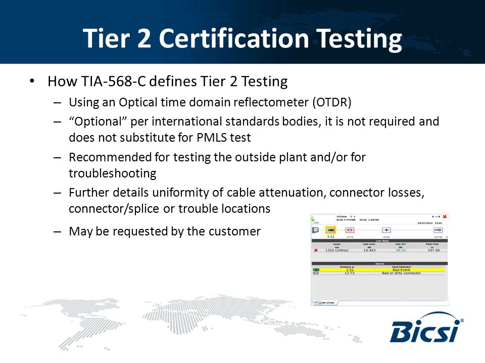 Tier 2 Certification Testing
