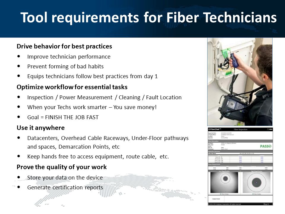 Tool requirements for Fiber Technicians
