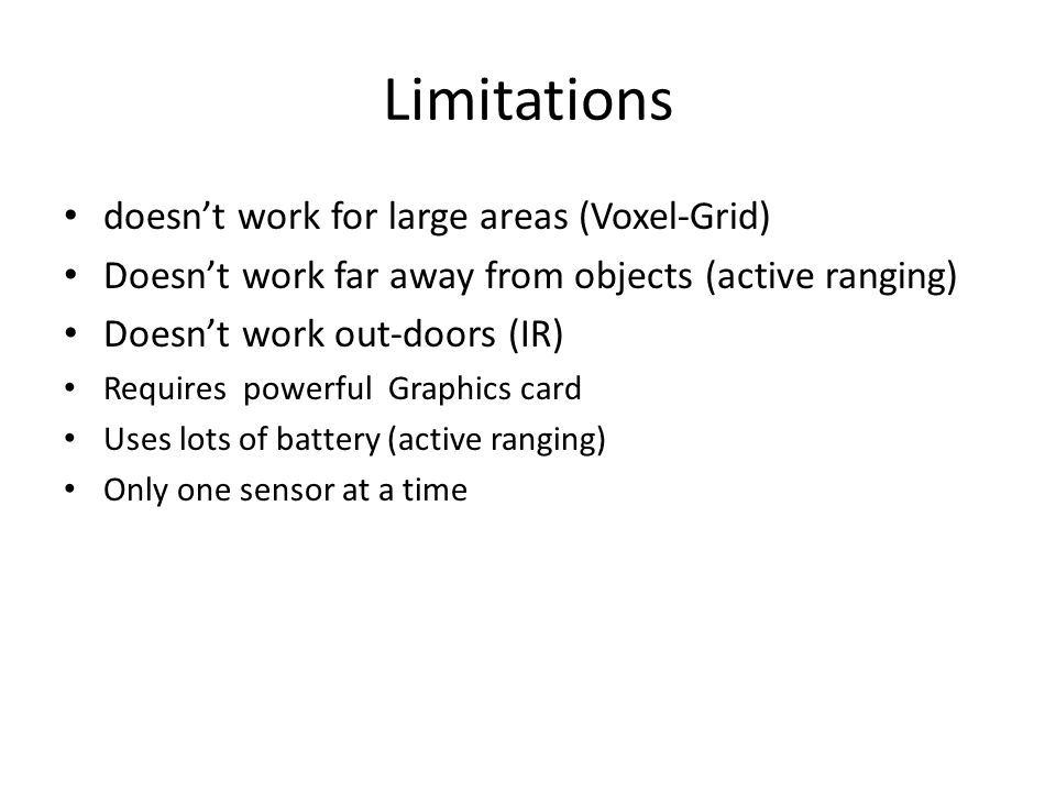 Limitations doesn't work for large areas (Voxel-Grid)
