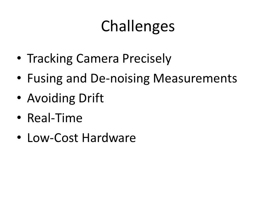 Challenges Tracking Camera Precisely