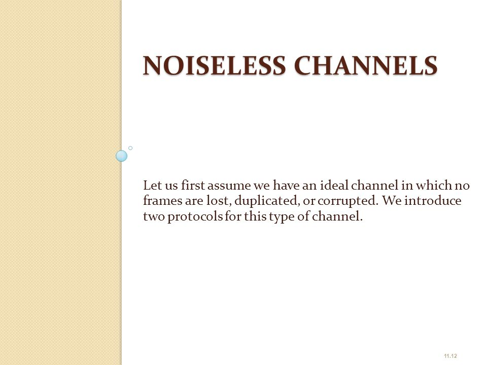 NOISELESS CHANNELS