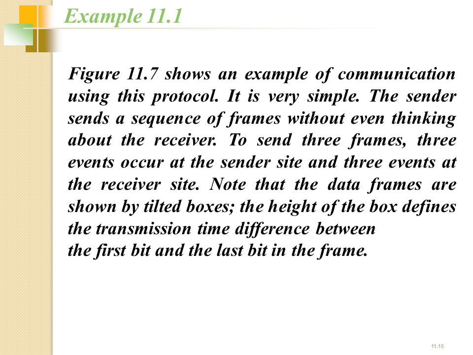 Example 11.1