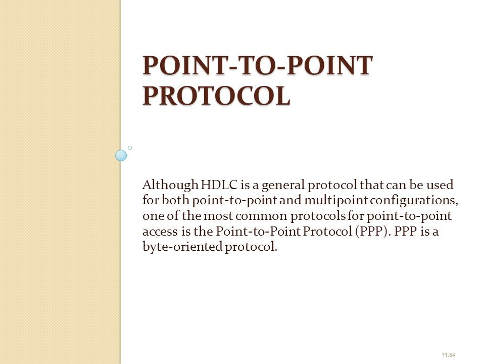 POINT-TO-POINT PROTOCOL