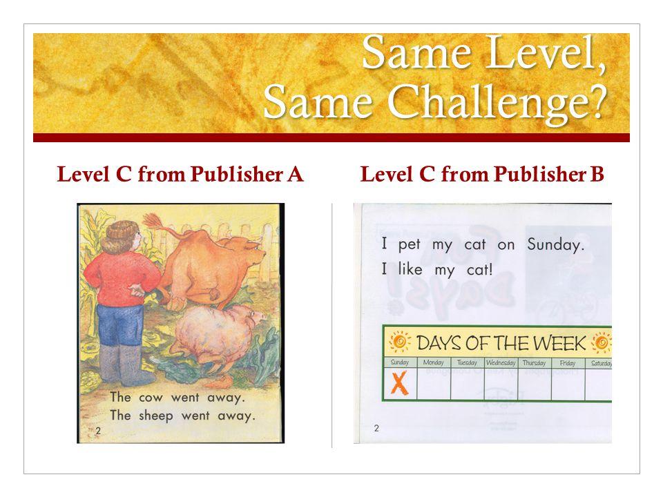 Same Level, Same Challenge