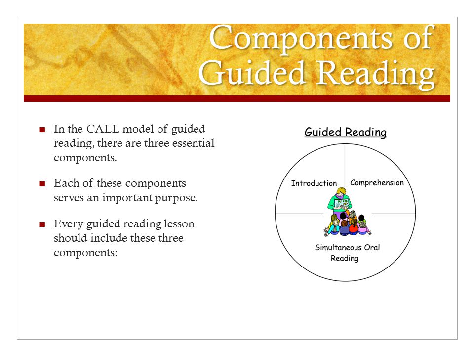 Components of Guided Reading