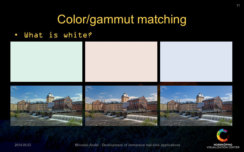 Color/gammut matching