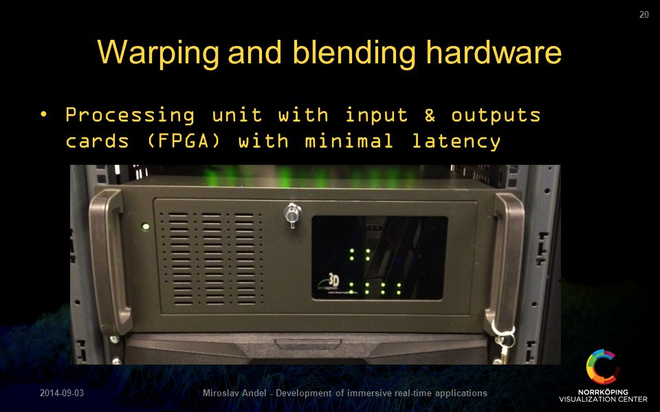 Warping and blending hardware