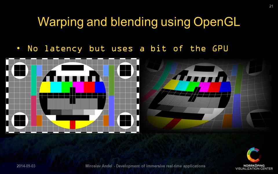 Warping and blending using OpenGL