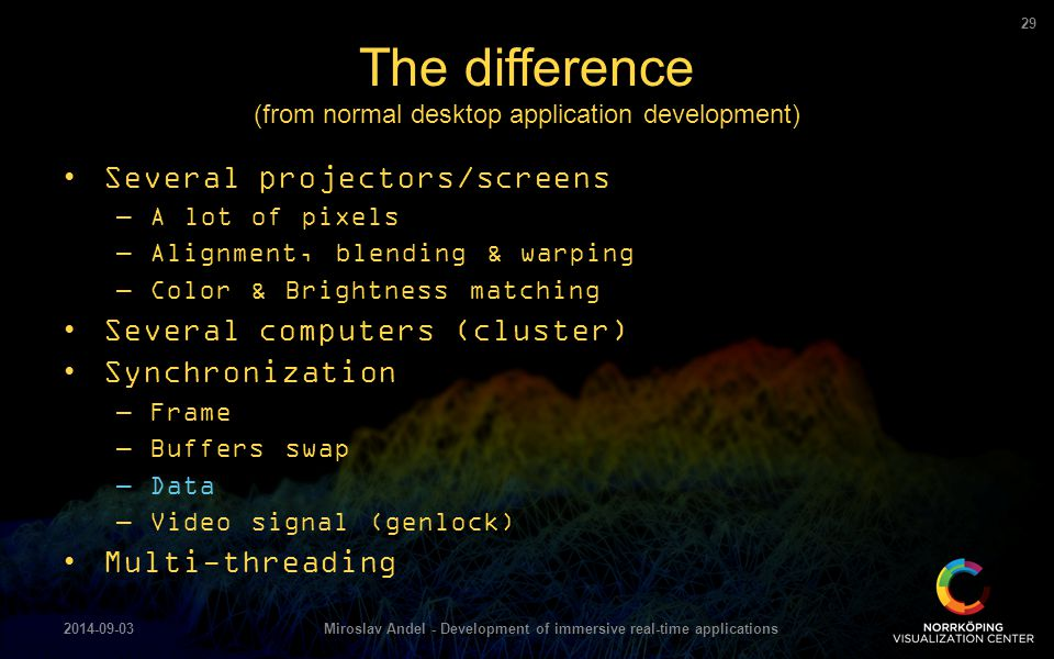 The difference (from normal desktop application development)