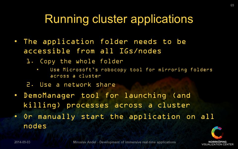Running cluster applications