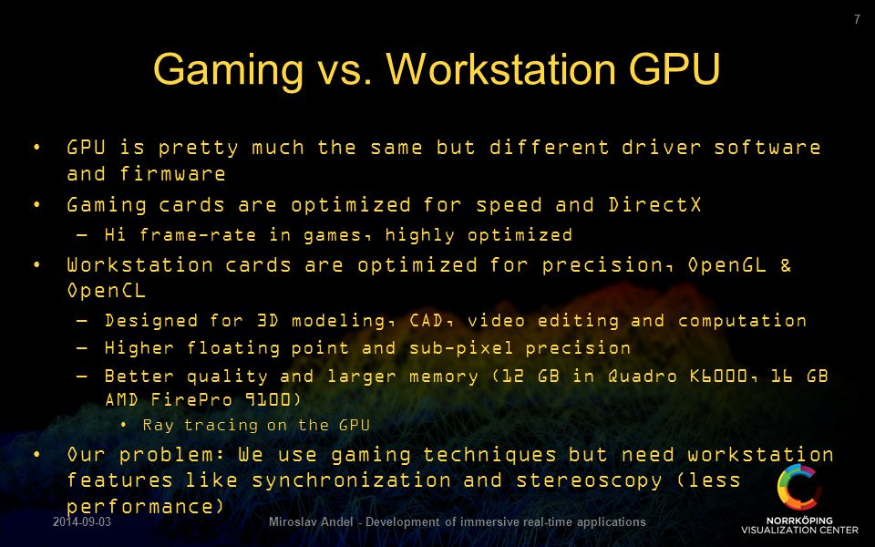Gaming vs. Workstation GPU
