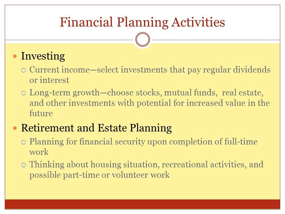 Financial Planning Activities