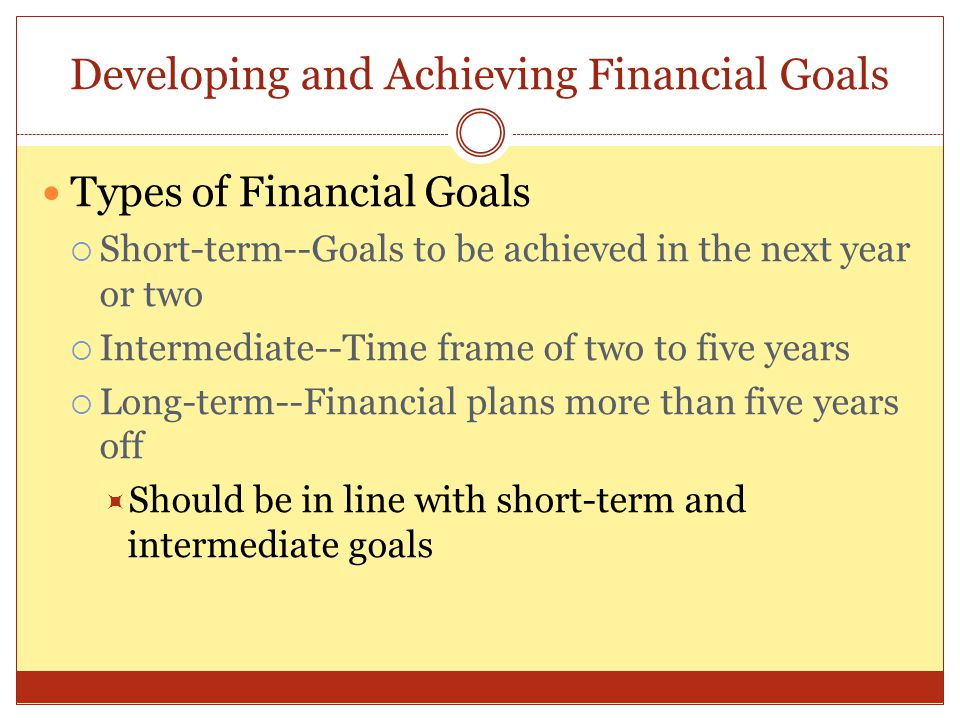 Developing and Achieving Financial Goals
