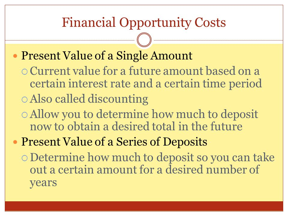 Financial Opportunity Costs