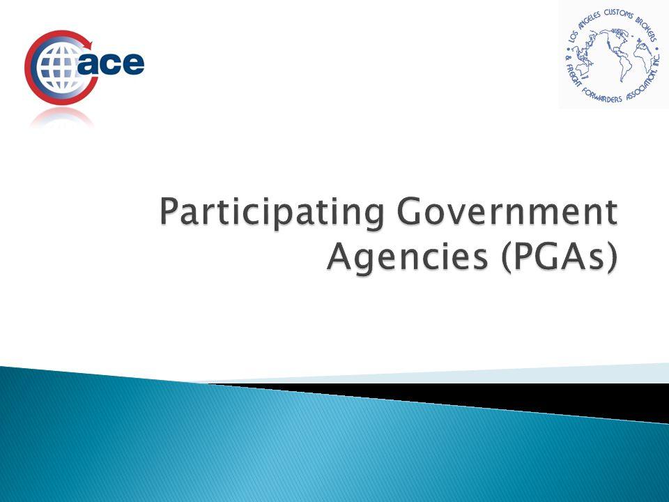 Participating Government Agencies (PGAs)