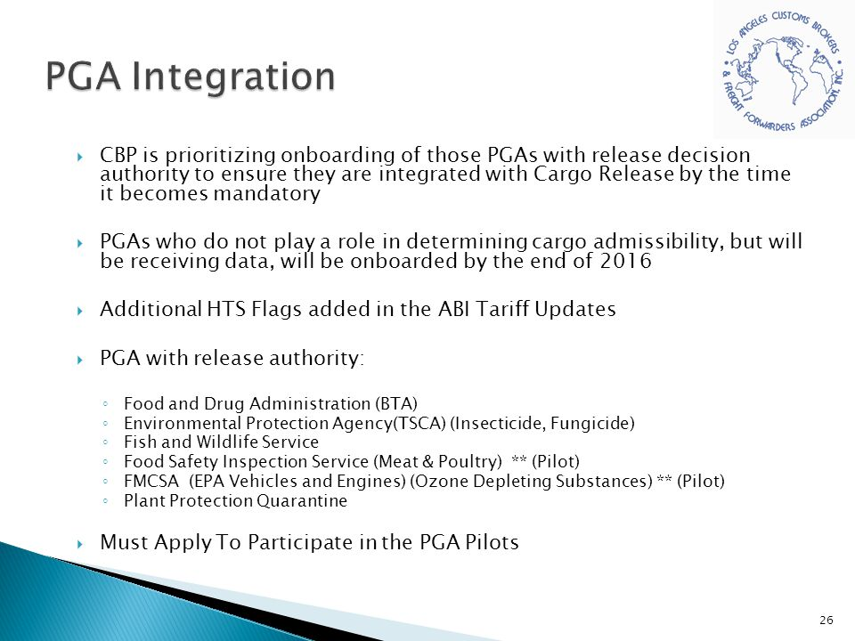 PGA Integration