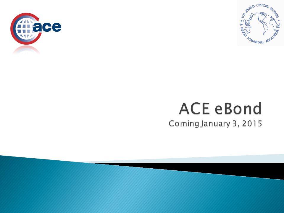 ACE eBond Coming January 3, 2015