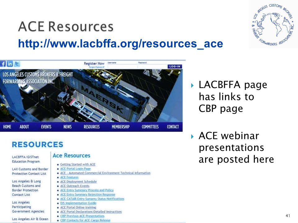 ACE Resources http://www.lacbffa.org/resources_ace