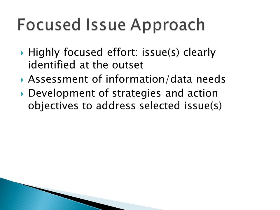 Focused Issue Approach