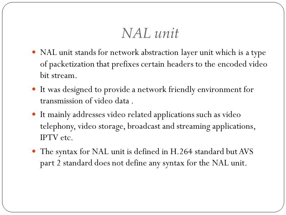 NAL unit