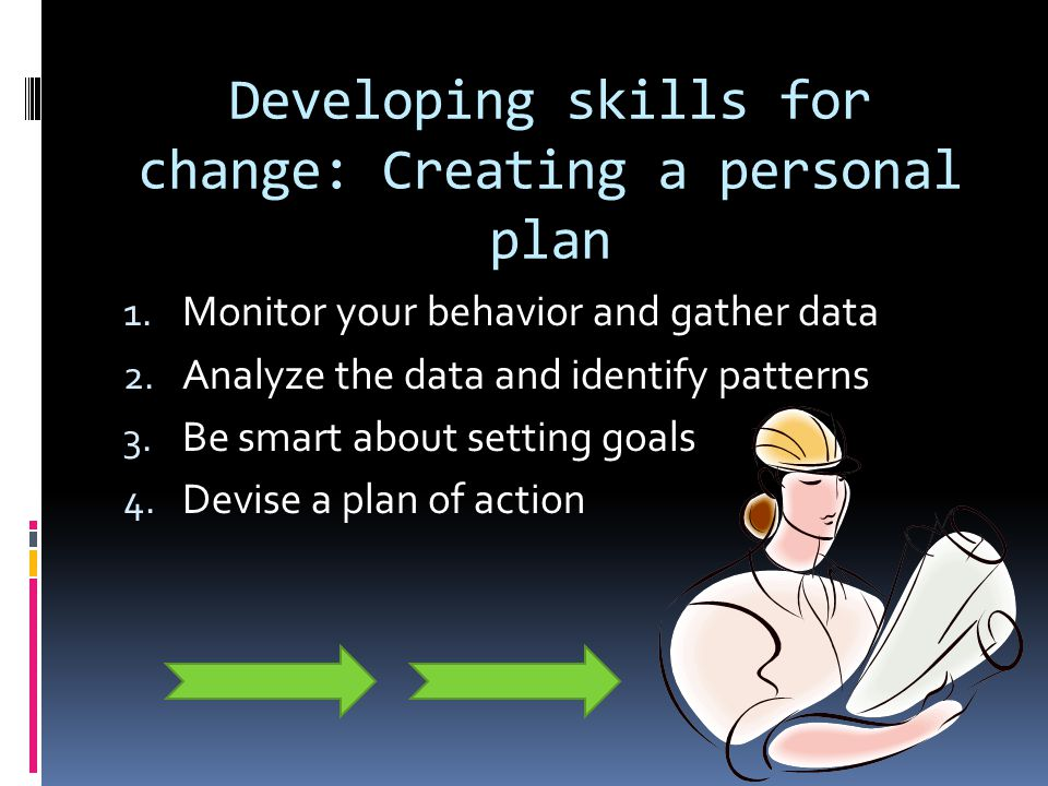 Developing skills for change: Creating a personal plan