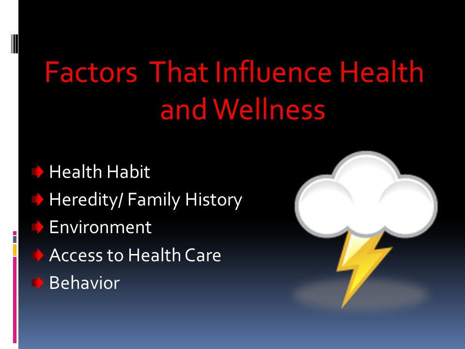 Factors That Influence Health and Wellness