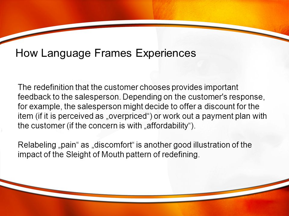 How Language Frames Experiences