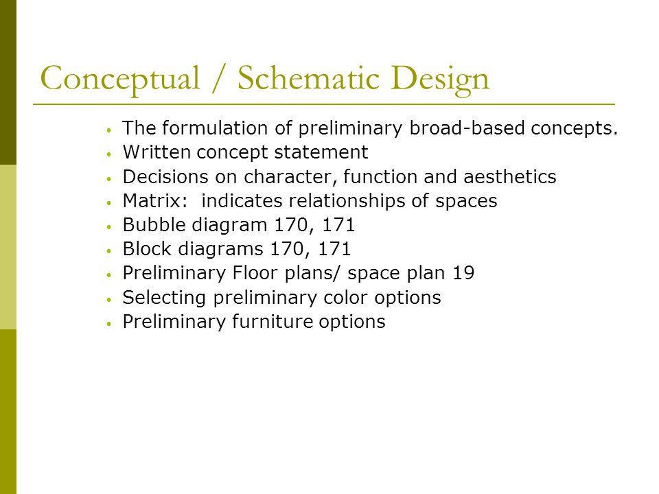 Conceptual / Schematic Design