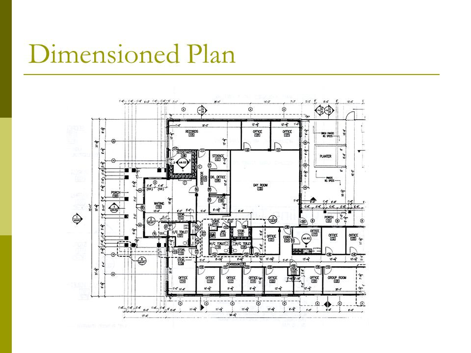 Dimensioned Plan