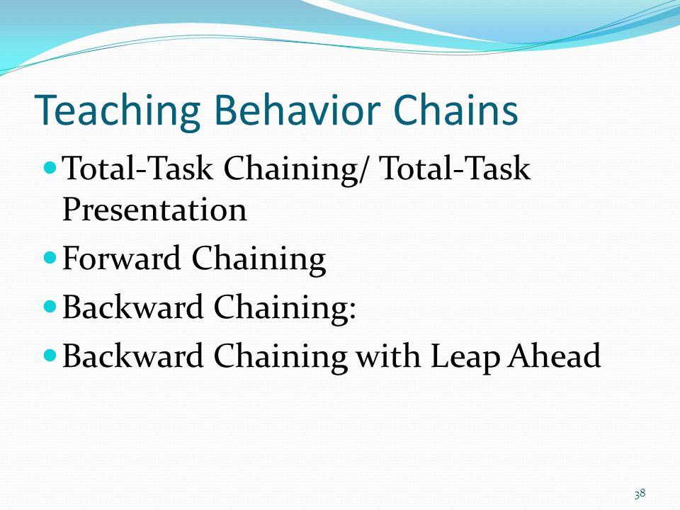 Teaching Behavior Chains