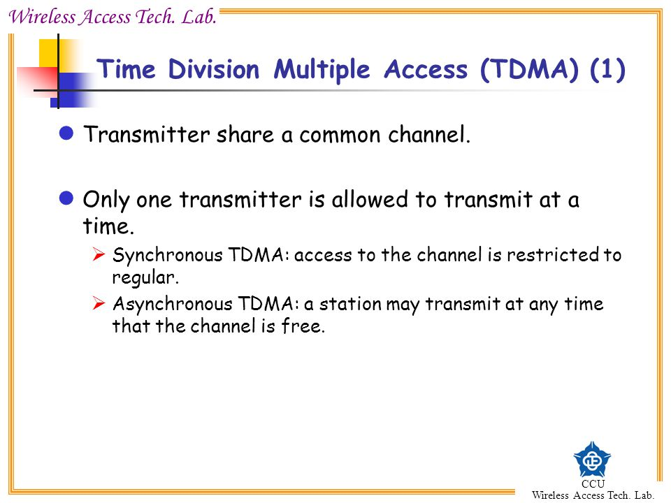 Time Division Multiple Access (TDMA) (1)