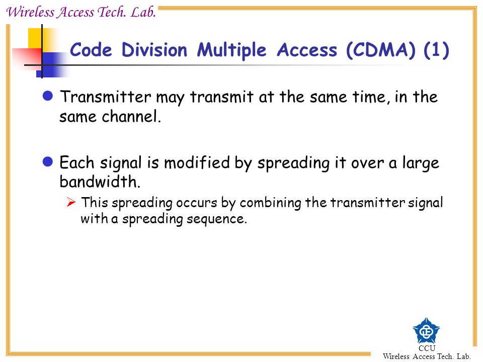 Code Division Multiple Access (CDMA) (1)