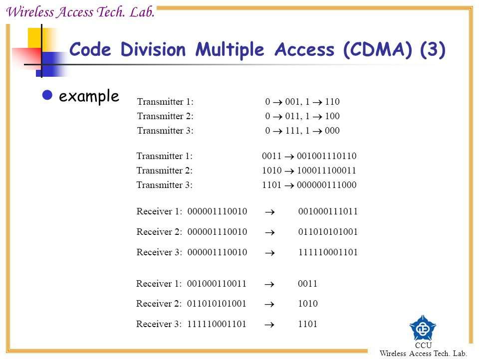Code Division Multiple Access (CDMA) (3)