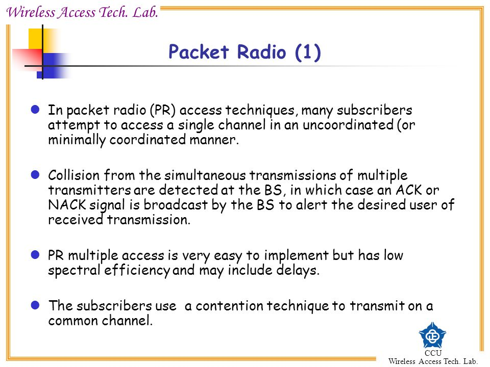 Packet Radio (1)