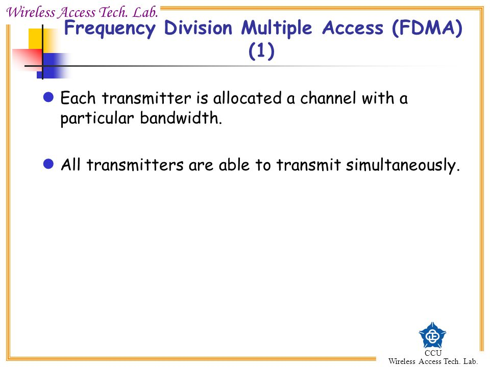 Frequency Division Multiple Access (FDMA) (1)
