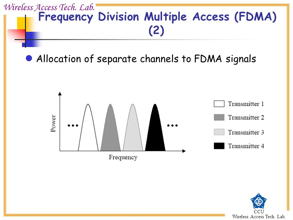 Frequency Division Multiple Access (FDMA) (2)