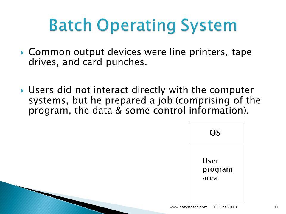 Batch Operating System