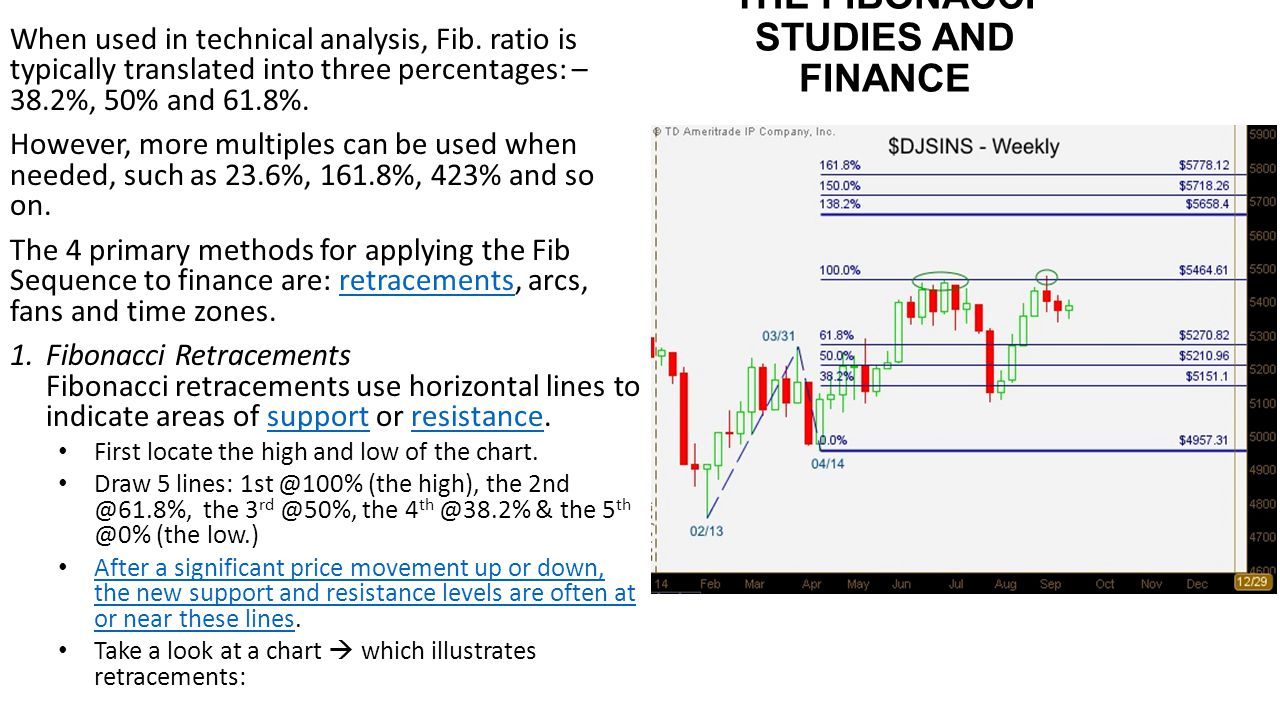THE FIBONACCI STUDIES AND FINANCE