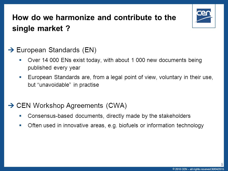 How do we harmonize and contribute to the single market