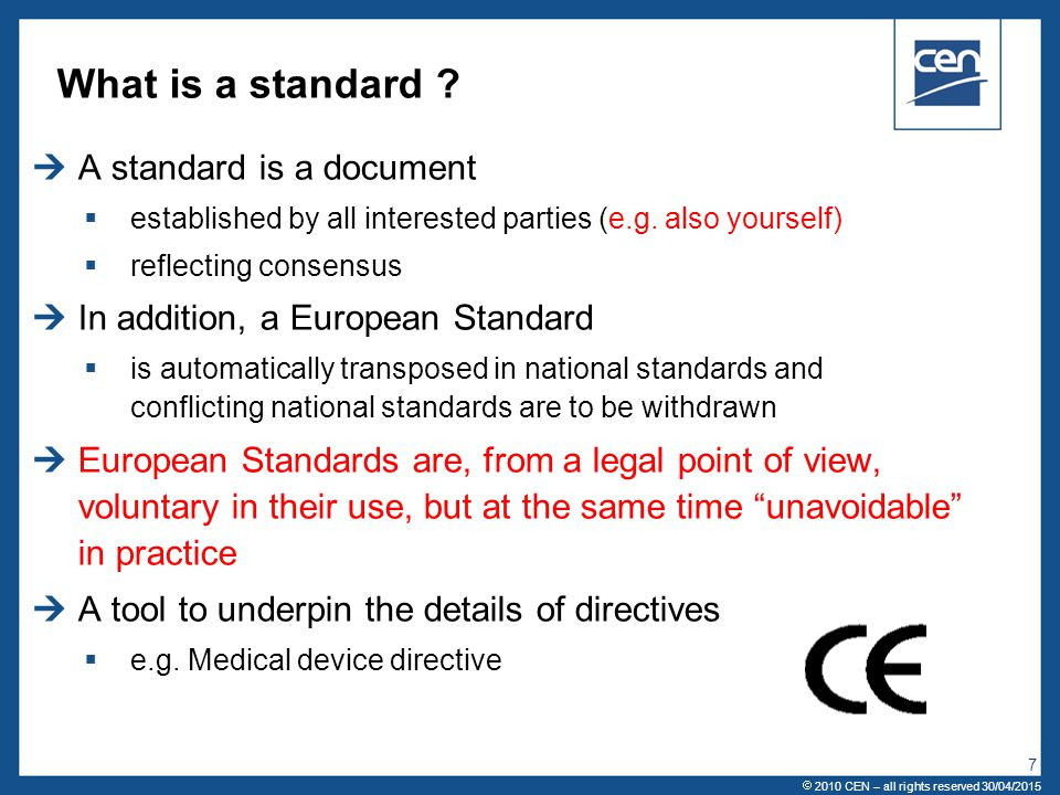 What is a standard A standard is a document