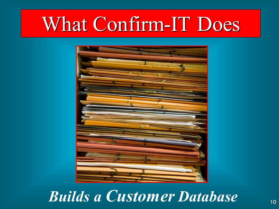 Builds a Customer Database