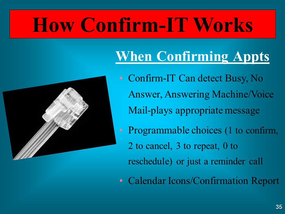 How Confirm-IT Works When Confirming Appts