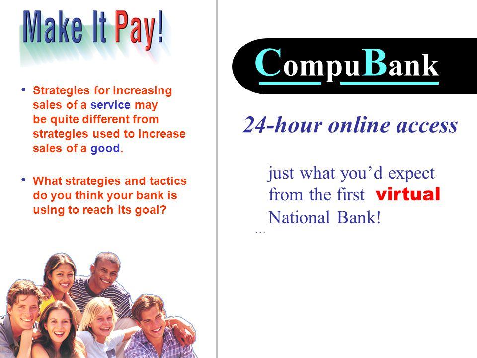CompuBank 24-hour online access
