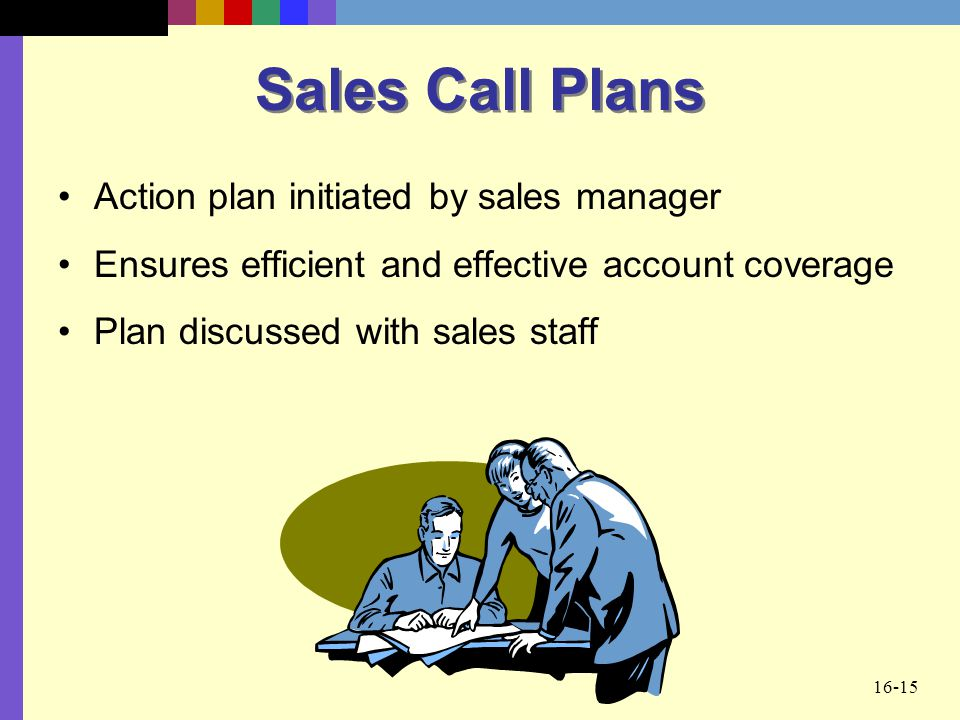 Sales Call Plans Action plan initiated by sales manager